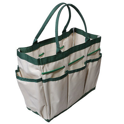 Garden Tools Bag Foldable Multifunctional Canvas Carrier Handbag Outdoor Use