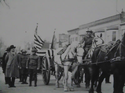 World War One Era Military United States Caisson, Black And White Horses Team