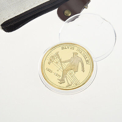 Elvis Presley 1935-1977 The King of N Rock Roll Gold Art Commemorative Coin Gift