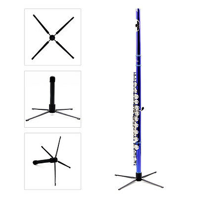 Portable Foldable Tripod Flute Instrument Stand Holder Rack Display Metal Music