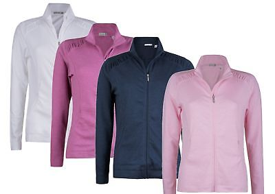 55% OFF Green Lamb Jacket Ladies Womens Full Zip Top Golf Tennis Gym