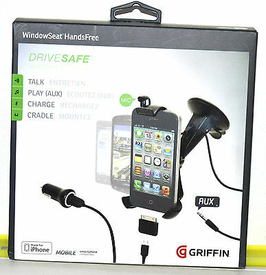 Car Holder Griffin Drive Safe Window Seat Handsfree Car Kit GC22064 iPhone,