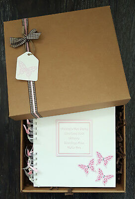 "Hen Party Scrapbook, 8""x8"" Boxed Memory Book, Personalised Birthday Guest Book"