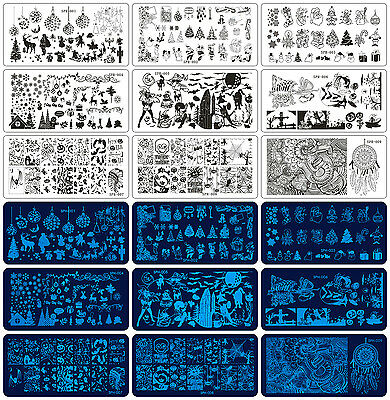 Christmas Halloween Design Nail Art Image Stamping Plates Manicure Template Tool