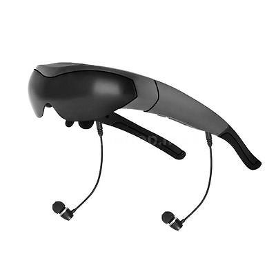 """Android 4.4 Quad Core WiFi Smart Video Glasses 80"""" Touch Virtual WideScreen Q7A8"""
