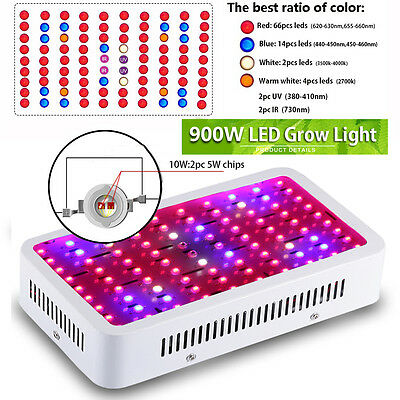 900W Led Grow Light Full Spectrum Lamp for Indoor Plant Growing Hydroponics Vegs