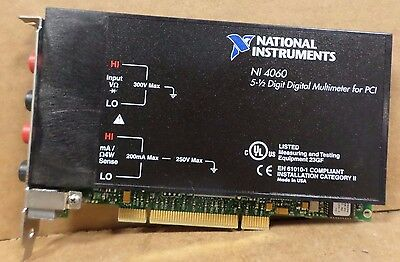 National Instruments NI PCI-4060 5-1/2 Digit Digital Multimeter PCI Cards