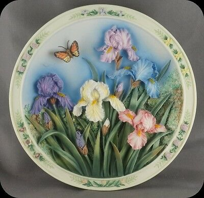 Lena Liu The Iris Garden 3D Collector Plate Beautiful Gardens