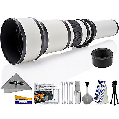 Opteka 650-1300mm High Definition Ultra Telephoto Zoom Lens for Nikon 1-mount