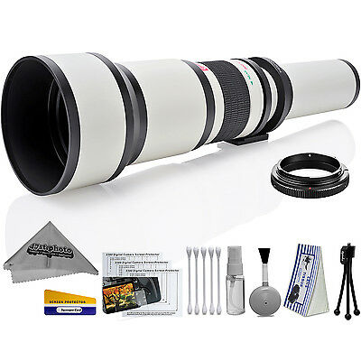 Opteka 650-1300mm High Definition Ultra Telephoto Zoom Lens for Sony A-mount