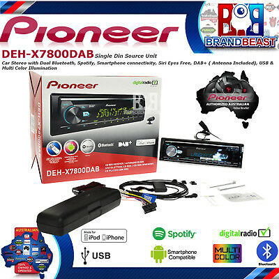 Pioneer Deh-x7800dab Car Cd Mp3 Stereo Bluetooth Dab+ Radio Iphone Dehx3800dab