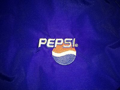 Pepsi Large Nylon/Fleece Work Jacket Full Zipper Coat