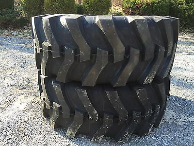 2 NEW 17.5L-24 Backhoe Tires R4 - 12 PLY - 17.5LX24 - 17.5X24 - 17.5-24
