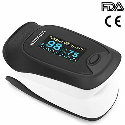 Jumper Deluxe Fingertip Pulse Oximeter with Alarm Perfusion Index OLED Screen