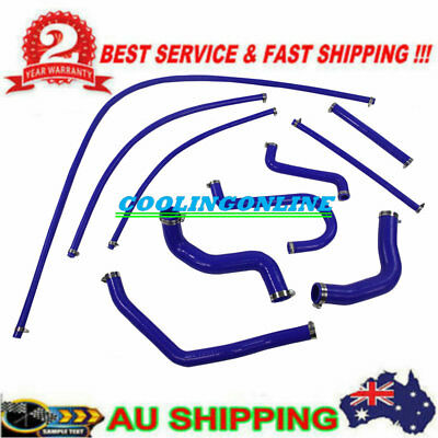 Blue Silicone Radiator Cooling Hose Pack kits for FORD FALCON EF-EL 6CYL 4.0L