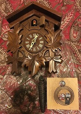 German Cuckoo Clock for parts or restore (Watch Video)