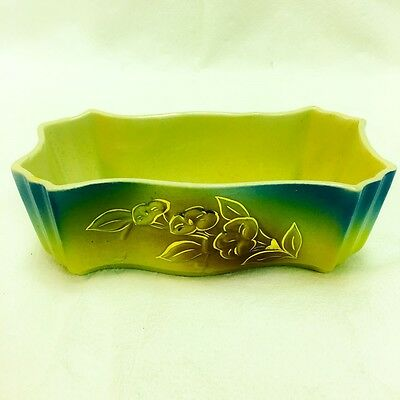 Vintage Hull USA Pottery Colorful Flower Planter
