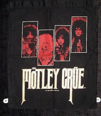 Motley Crue 1985 Japanese kids school bag UNUSED