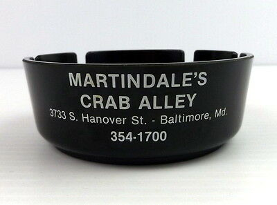 Vintage Ashtray Martindale's Crab Alley Baltimore MD