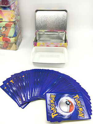 42pcs/lot New Kids Metal Box Game Cards Trading Collection Cards Figures Toys