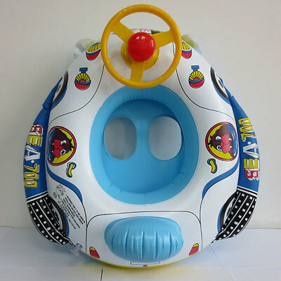 Baby Inflatable Pool Swim Float Boat Infant Chair Swimming With Wheel Horn
