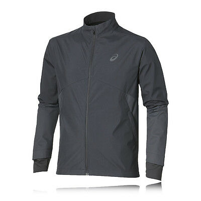 Asics Windstopper Hombre Gris Resiste Agua Resiste Viento Running Chaqueta Top