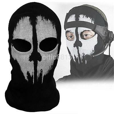 Balaclava Ghost Skull Bike Motorcycle Helmet Hood Ski Face Mask For War Game AU