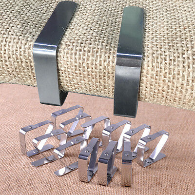 12x Stainless Steel Tablecloth Clamp Table Cloth Cover Clip Holder Camping Party