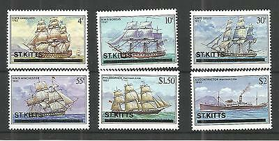 St Kitts 1980 Ships Sg,42-47 U/m N/h Lot 707A