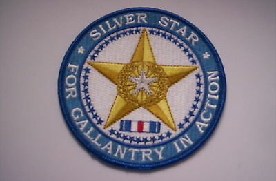 Aufnäher  Silver Star for Gallantry in Action ca 10 cm