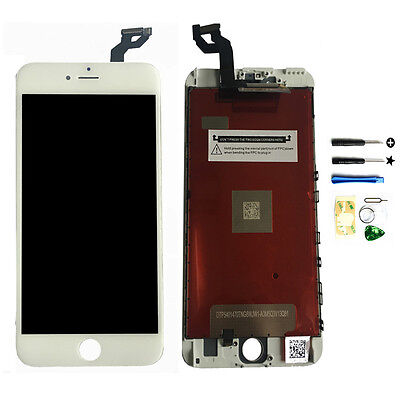 White LCD Display Touch Screen Digitizer Frame Assembly for iPhone 6S Plus OEM