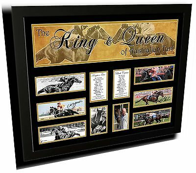 King & Queen Kingston Town Black Caviar Limited Edition Framed Memorabilia