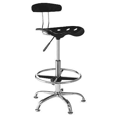 Drafting Stool with Tractor Seat - Black - OneSpace