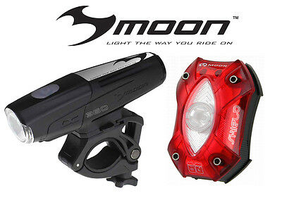 Moon LX 360 and SHIELD-X AUTO 80 Front/ Rear Light Set- FREE EXPRESS POST