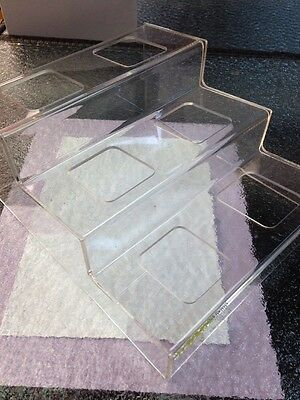 """Deva Curl Clips Fixture / Display  New Sealed Lucite  size is : 9"""" X 7.5"""""""
