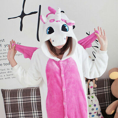 Adult Pajamas Kigurumi Cosplay Unisex Costume Animal Onesie Sleepwear Unicorn !