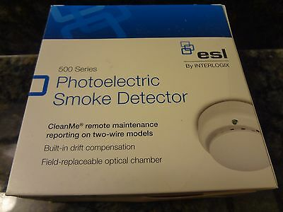NEW ESL 521BXT 521 BXT Two Wire Photoelectric Smoke Detector with Heat Sensor