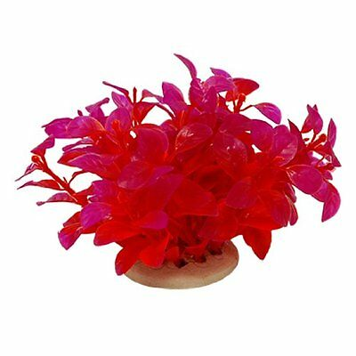 Plante d'aquarium en plastique rouge Decoration pour aquarium WT