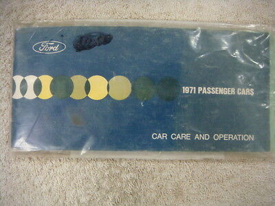 Brand New 71 Ford  Owners Manual Mustang Passenger Car Care And Operation Manual