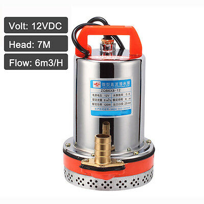 DC 12/24V Stainless Steel Farm & Ranch Solar Submersible Well Water Pump