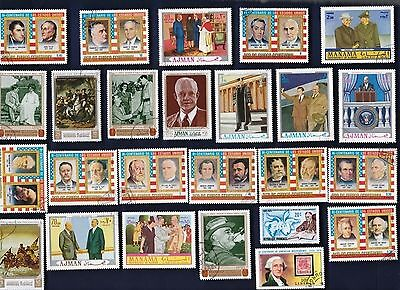 25 UNITED STATES PRESIDENTS ON FOREIGN STAMPSon Stamps