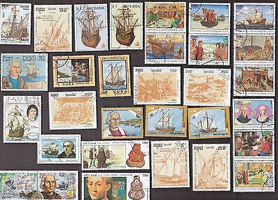50 All Different COLUMBUS & EXPLORERS on Stamps