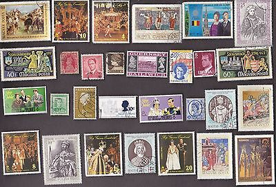 50 All Different ROYALTY on Stamps
