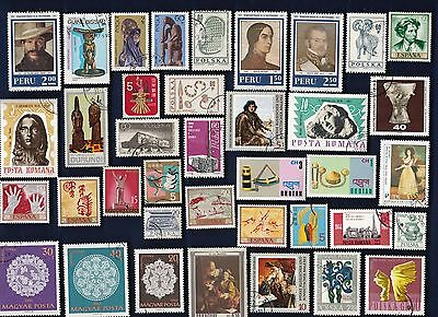 50 ART & ARTIFACTS on Stamps