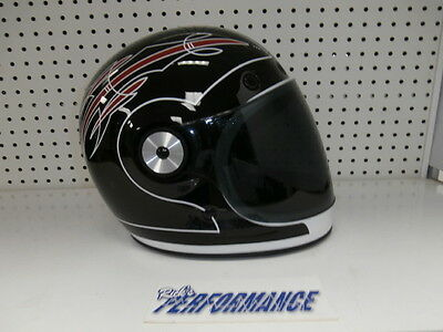 New Bell Bullitt Skratch Motorcycle Helmet Size Medium Retro Free Shipping