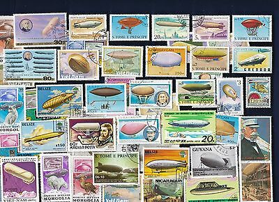 50 DIRIGIBLESon Stamps