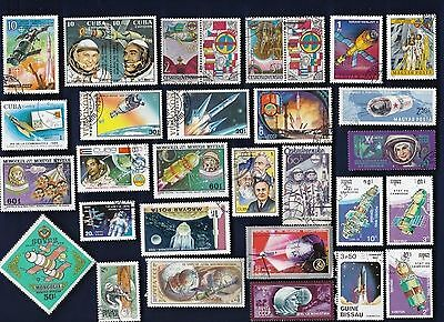 50 SPACE & ASTRONAUTS on Stamps