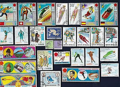50 WINTER OLYMPICS on Stamps