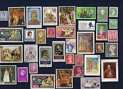 55 ROYALTY & HEARLDRY on Stamps