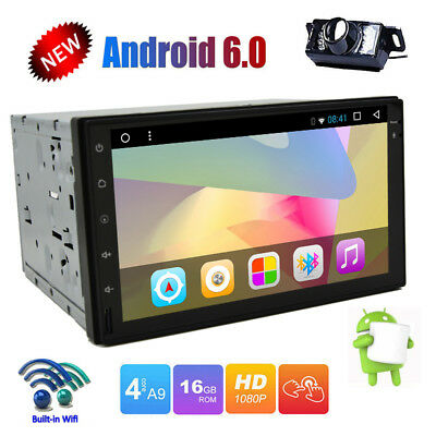 Quad Core HD Double 2Din In-Dash 7 Inch GPS Navigation Car Stereo 3G/WIFI+CAMERA